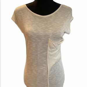 A is for Audrey boutique soft white tee pocket T